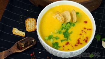 Тыквенный  суп-пюре  с крекером