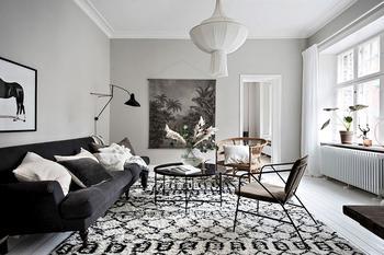 Стильная просторная квартира в нейтральных тонах в Швеции