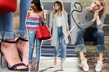Как модно обрезать джинсы в 2020