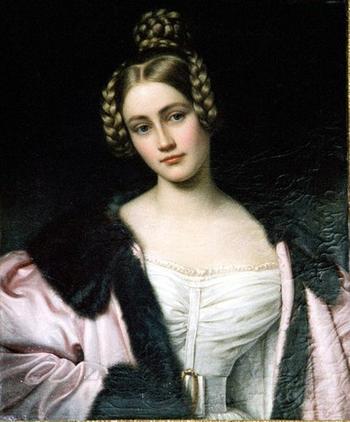 История графини Каролины фон Хольнштайн из галереи красавиц Нимфенбурга