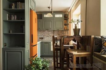 Квартира 40 кв.м с мебелью, сделанной из старых лодок