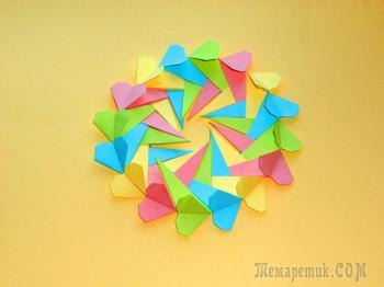 Валентинка Оригами - подарок на День святого Валентина