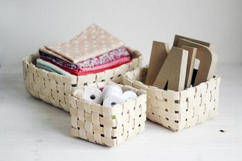 Плетём корзинку из шпона