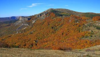 Осеннее золото Демерджи. 2. Вершина Южного Демерджи и спуск вниз