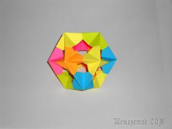 Многогранник из бумаги Кубооктаэдр