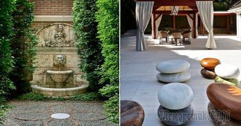 13 современных идей по декору сада природными камнями