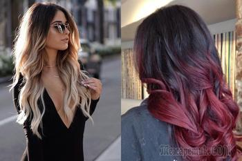 Колорирование на темные и светлые волосы — модные оттенки в 2018 году