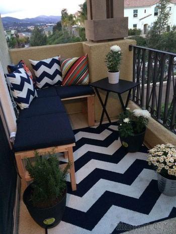 20 очаровательных примеров обустройства балкона