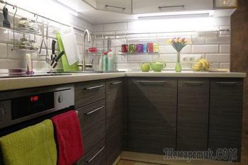 Сочетание несочетаемого в кухне-гостиной на 9 кв.м