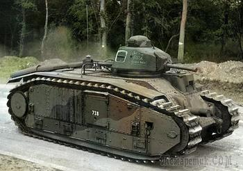 Французский тяжелый танк Char B1. История, боевое применение