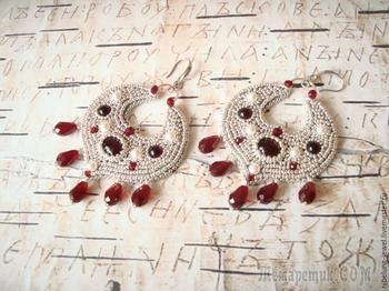 Вышиваем бисером серьги в славянском стиле «Ярославна»