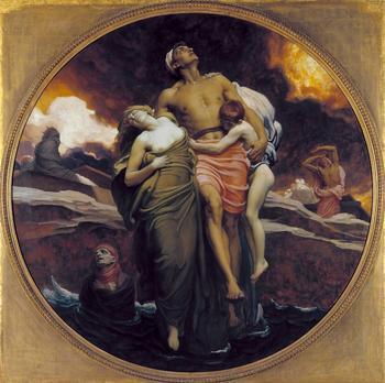 """Сюжет""""Апокалипсиса""""- картина Фредерика Лейтона (1830–1896) с толкованием св.отцов"""