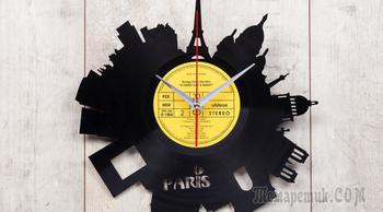 Часы из старых виниловых пластинок своими руками