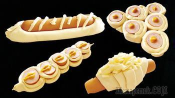 4 оригинальных способа хот-дога из слоеного теста в домашних условиях