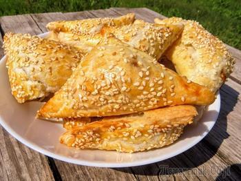 Вкуснейшие бурекасы с сыром и баклажанами