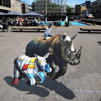 Талантливый уличный художник искажает реальность своими трёхмерными иллюзиями