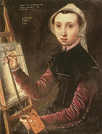 Какое загадочное послание зашифровано в первом автопортрете, который написала женщина: Катерина ван Хемессен