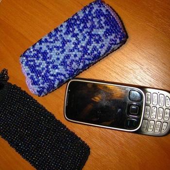 Чехол для телефона из бисера