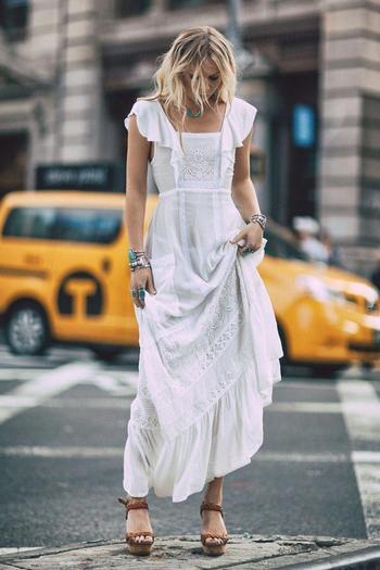 Шикарные длинные летние платья