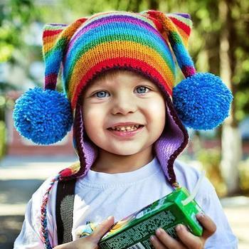 Оригинальные вязаные шапки для детей
