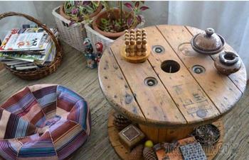 20 невероятно красивых вариантов оформления столов-катушек