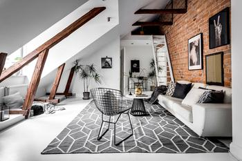 Классная мансардная квартира в Стокгольме (65 кв. м)