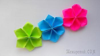 Собираем простые цветы из бумаги для декорирования подарков