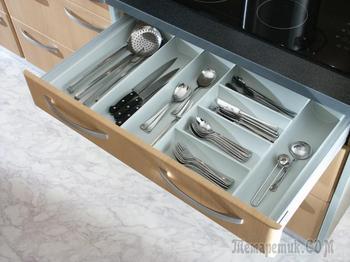 Лоток для столовых приборов в ящик: выбираем идеальный органайзер на кухню