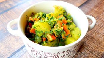 Ароматное овощное рагу из запеченных овощей