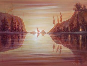 Оптические иллюзии в картинах Олега Шупляка