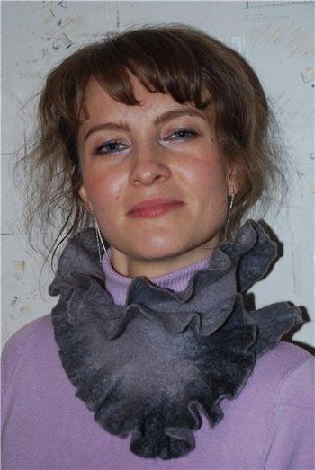 Стильные валяные шарфы