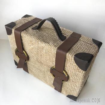 DIY Простая идея чемодана из картона   Поделка из картона