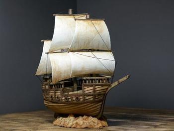 Пиратский корабль из картона