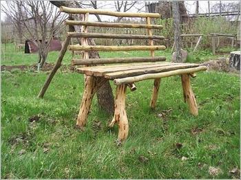 Оригинальная мебель из веток и сучков