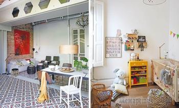 Вытянутая квартира в Барселоне с верандой и собственным садиком