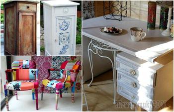 Гениальные идеи, как переделать старую советскую мебель в современный интерьер