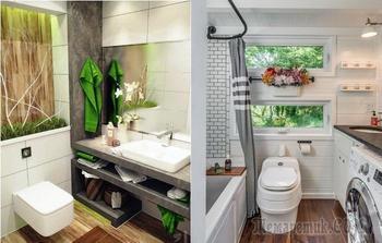 20 дизайнерских идей, которые можно воплотить в крошечных ванных комнатах