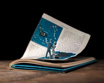 Потрясающий книжный коллаж