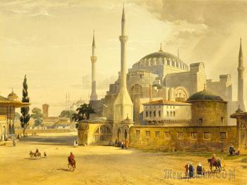 Шедевры мирового зодчества... Храм Святой Софии. Константинополь