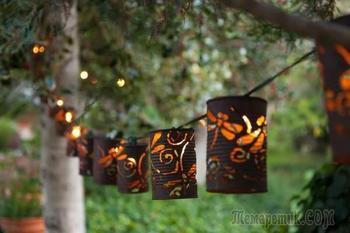 Садовый светильник своими руками — оригинальные идеи освещения