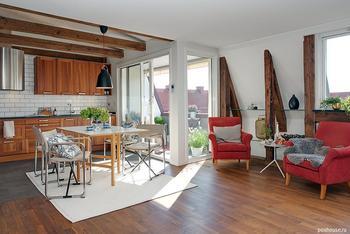 Квартира в обаятельном рустикальном стиле в шведском Гетеборге