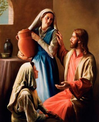 Святые Мария и Марфа, новый завет