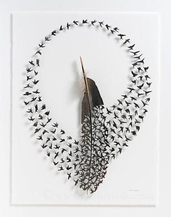 Воздушные произведения из перьев