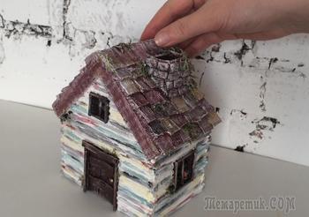 Как сделать домик из бумаги и картона