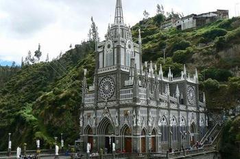Достопримечательности Колумбии: Лас-Лахас — церковь или средневековый замок?