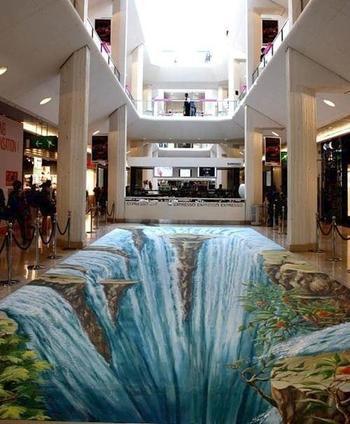 Невероятный стрит-арт с 3D-эффектом