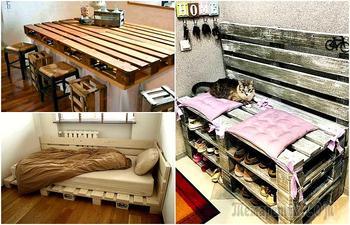 17 практичных идей по превращению поддонов в стильную мебель