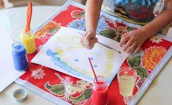 Как сшить коврик для детского творчества