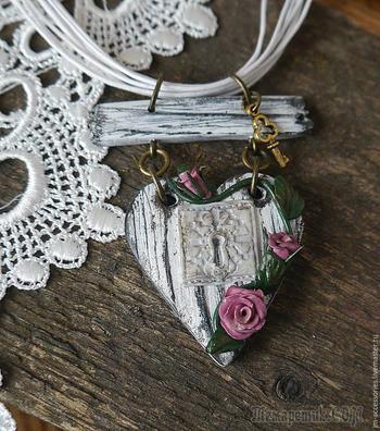 Создаем сердечки в стиле шебби-шик из полимерной глины
