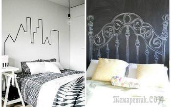 Самые необычные варианты оформления изголовья кровати